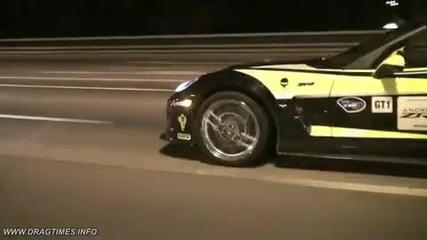 На какво си играят руските милионери част 2 Corvette Zr1 vs Nissan Gtr Switzer P800