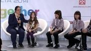 Пресконференция на Крисия, Хасан, Ибрахим и Евгени Димитров На Детската Евровизия 2014 в Малта