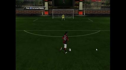 гол с Роналдиньо на Fifa 11
