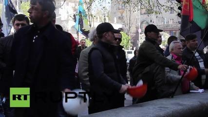 Украйна:Миньорите продължавата да протестират пред министерството на енергетиката в Киев