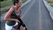 Hottie Ash Shooting an Ak for the First Time