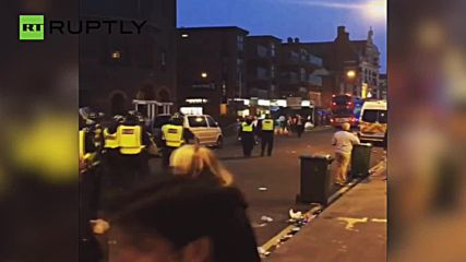Riot Police Line London Streets After Man United Coach Attacked