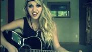 Блондинка с кавър на песента Diamonds