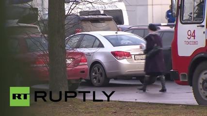 Russia: Relatives of 7K9268 victims arrive at St Petersburg crematorium