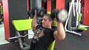 Фитнес упражнения - Раменна преса с дъмбели