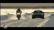 Мотори срещо коли на сняг