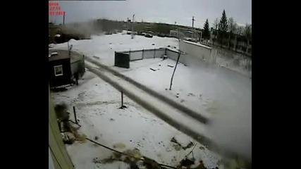 Руските шофьoри нищо не може да ги спре!
