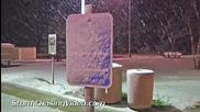 Снеговълеж в Брейнард, Минесота 5.11.2014