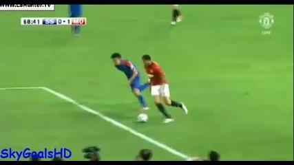 Кагава с първи гол с екипа на Юнайтед.
