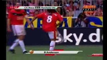 Boca Juniors 0 - 1 Man Utd (anderson Goal)