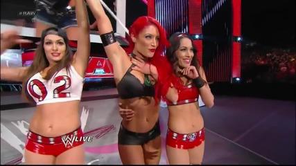 Eva Marie & The Bella Twins vs. Aj lee, Tamina & Aksana