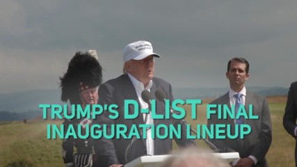 Here's the 'celeb' Trump inauguration lineup... SAD!