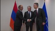 Belgium: NATO's Stoltenberg welcomes Armenian ministers for partnership talks