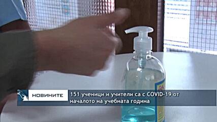 151 ученици и учители са с COVID-19 от началото на учебната година