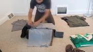 как се подрежда много багаж в малък сак