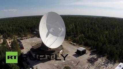 Latvia: Drone reveals world's 8th largest, ex-Soviet telescope