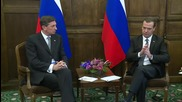 Germany: Medvedev meets Slovenian PM Pahor on Munich side-lines