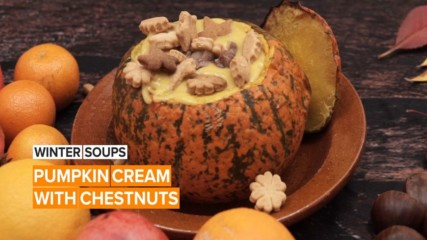 Soup Of The Week: Pumpkin cream with chestnuts
