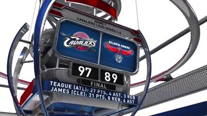 Кливлънд започна с победа като гост серията с Атланта