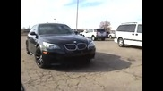Jorge Gurgel s blacked out Bmw M5 with custom plates parked