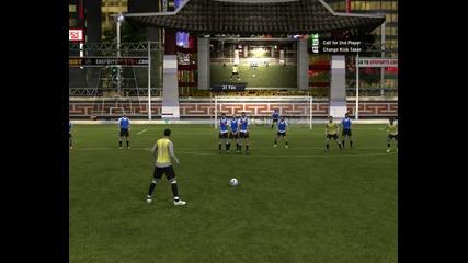 Fifa 2012 - My Gameplay (free kick) #7