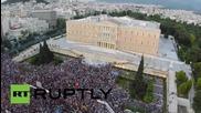 Гърция: Дрон е заснел хиляди протестиращи на площад Синтагма