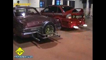 Страхотен Opel Astra Sedan Звук и Пламъци