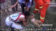 Пожарникар спасява три годишно дете