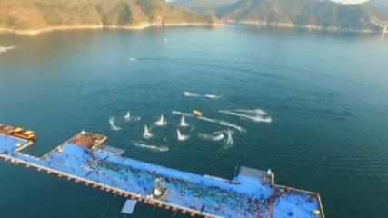 В Китай откриха плаващи кейове, дълги 50 000 метра (ВИДЕО)