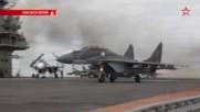 "Самолетоносача ""адмирал Кузнецов"" - Кадры взлета и посадки самолетов"