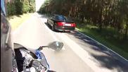 Луда гонка между Audi S2 и Kawasaki Zx12r !