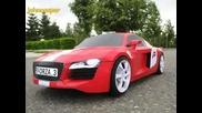 Audi R8 Направено от Хартия
