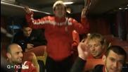Червена радост в автобуса на Цска Ii част