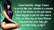 Nicki Minaj - Muny ( Lyrics Video )