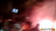 Клаксони и факли в чест на Звезда в Белград