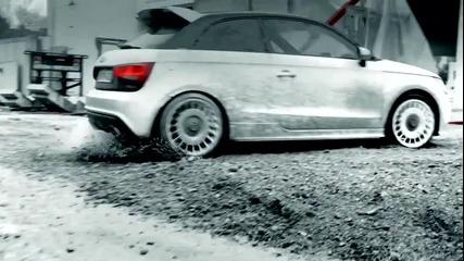 Gymkhana drifting Audi A1 quattro ! Hd www.streetcustomsbg.at.ua