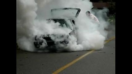 Mk2 Golf Turbo Burnout