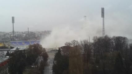 Взривяването На Стадион Георги Аспарухов в Квартал Герена