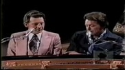 Jerry Lee Lewis Mickey Gilley and Carl Perkins Singing.