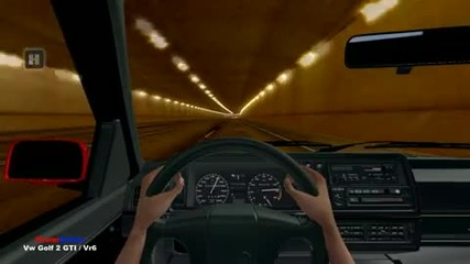 Test Drive Unlimited - Vw Golf 2 Gti Vr6 Tunnel Fun Hd
