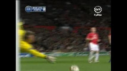 Манчестър Юнайтед 2 - 2 Порто - Кристиян Родригес гол *07.04.09*
