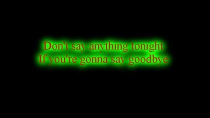 Skillet - Say Goodbye *lyrics*