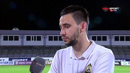 Гамаков: Разочаровани сме, не мога да повярвам, че ни вкараха два гола от статични положения