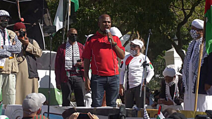 South Africa: Activists march through Cape Town to express support for Palestinians