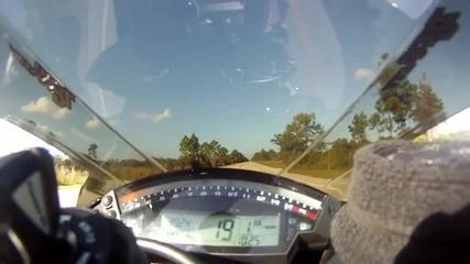 Top speed 208 mph kawasaki zx10r 2011