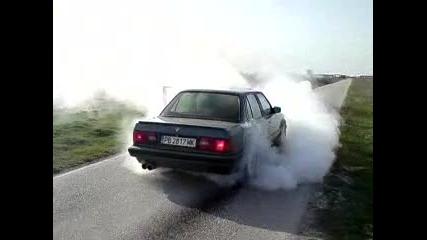 E30 пали гуми в Радиново До гръмване