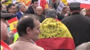 Spain: Hundreds march against Catalan independence in Barcelona