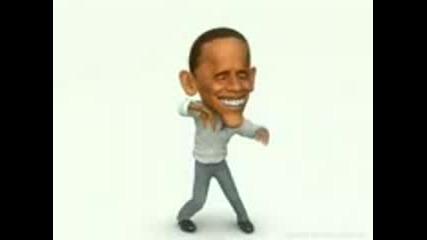 супер смешен танц на Обама