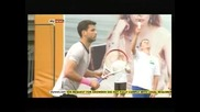 Григор Димитров срещу своя спаринг партньор в първия кръг в Бостад