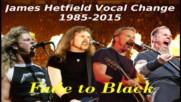 Metallica Fade to Black James Hetfield Vocal Change 1985-2015